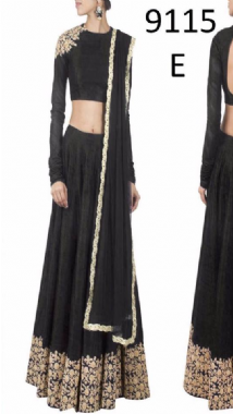 Stylish Black Lehenga